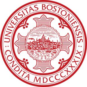Boston University logo.
