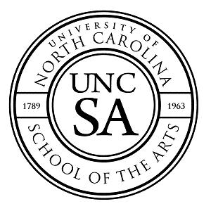 University of North Carolina School of the Arts logo.
