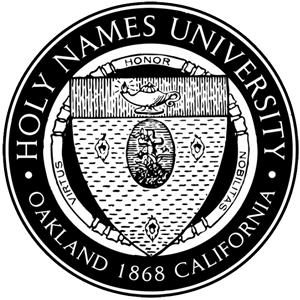 Holy Names College logo.