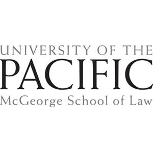 McGeorge School of Law- University of the Pacific logo.