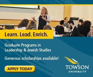 Towson University Graduate Programs in Leadership and Jewish Studies.