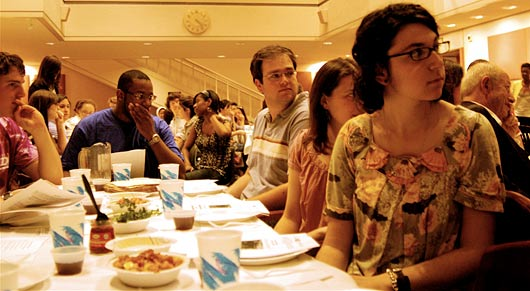 Students participate in Hillel's black Jewish freedom Seder.