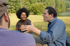 Senior Jewish educators and students meet at the 2008 Engagement Institute.