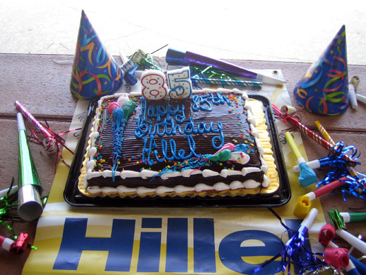 Hillel's 85th Birthday Cake.