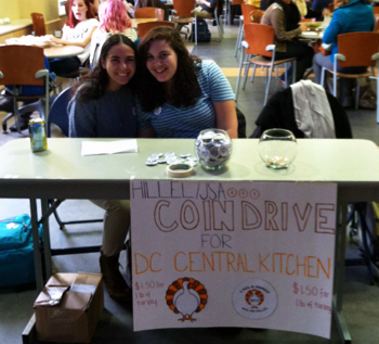 AU Hillel students raise money for DC Central Kitchen.