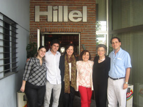 Hillel Accreditation team at Hillel Uruguay.