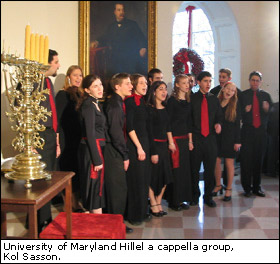 University of Maryland Hillel a cappella group, Kol Sasson.