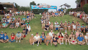 200 Taglit-Birthright Israel Students Celebrate 85 years on the Jordan River.