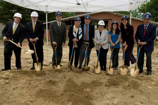 Hillel at the University of Rhode Island broke ground on the Norman M Fain Hillel Center on June 18, 2009.