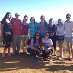 SB Hillel on a hike.