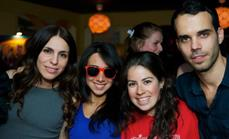 Twist out Cancer launch party- Ilana Chriqui, Jessica Sharafi, Bev Shimansky, Dan Hadad.