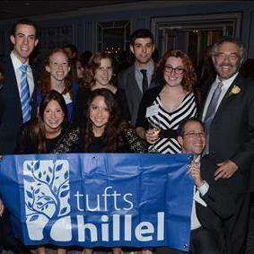 Rabbi Jeffrey A. Summit with Tufts Hillel students at the Gala.