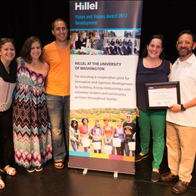 Vision & Values Winner University of Washington Hillel.