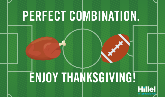 perfect combination football and turkey enjoy thanksgiving
