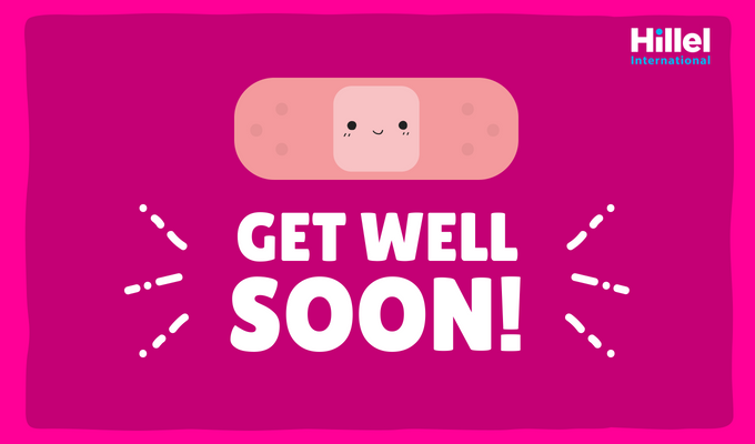 """Get Well Soon!"" with image of bandaid"