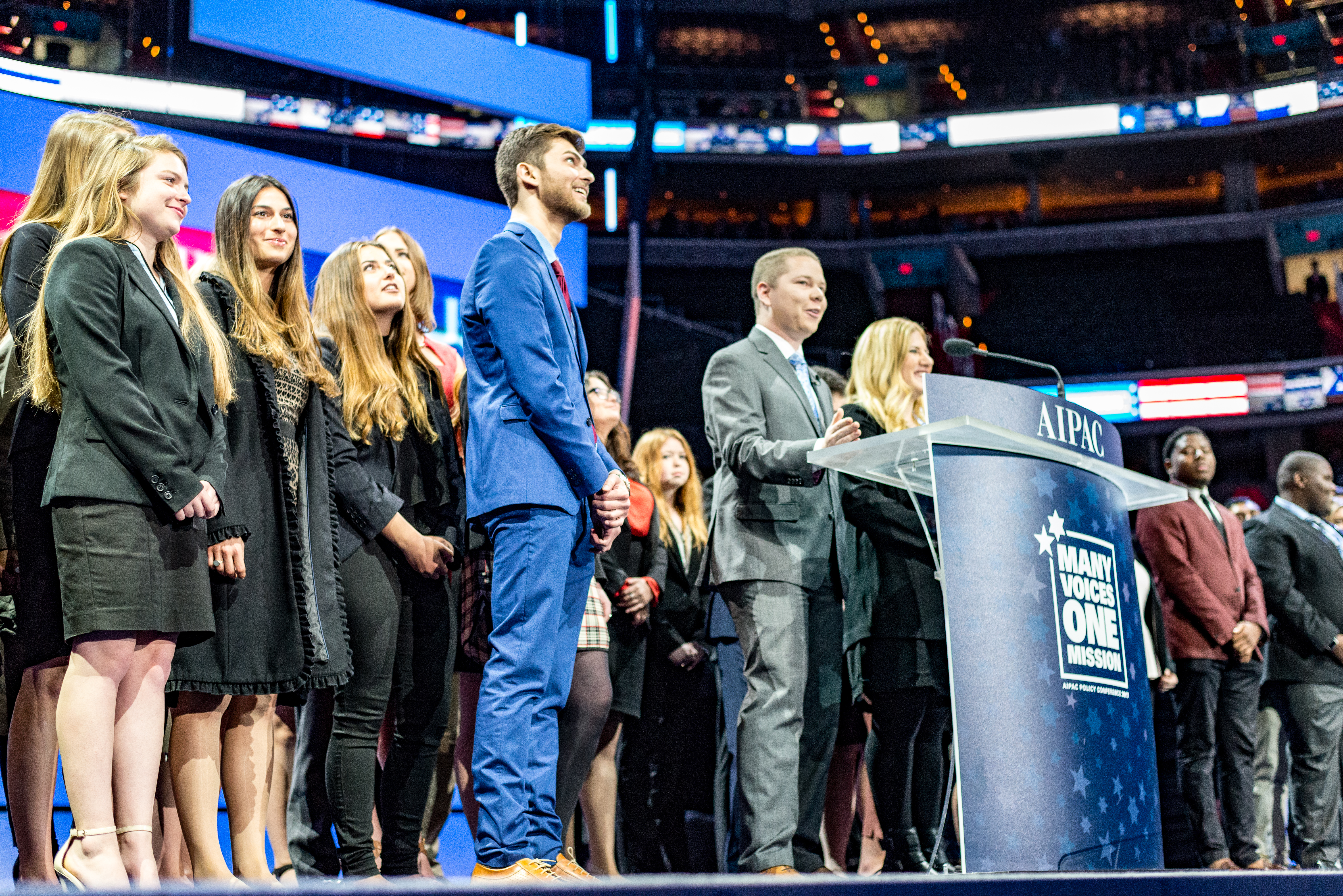 Students from Florida State University accept an award at the 2017 AIPAC Policy Conference.