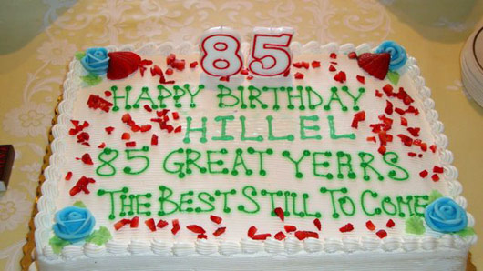 Peachy More Birthday Cakes For Hillels 85Th Personalised Birthday Cards Veneteletsinfo
