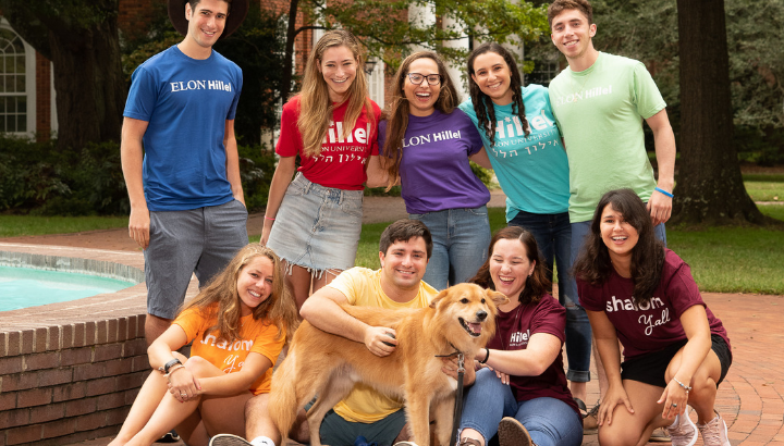 Students at Elon Hillel