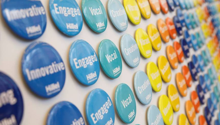 Colorful buttons describing global assembly.